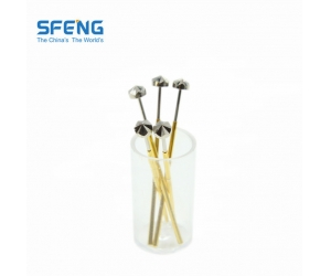 China best quality spring loaded pin parts with gold plated