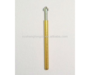 Conical head test probe pin for PCB