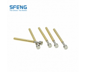 Full gold plated spring loaded connector pin for IC Testing