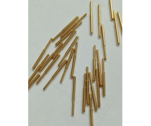 Gold plating brass part pin