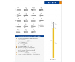 SFENG Brand P50 series test probe for gold or nickel plated