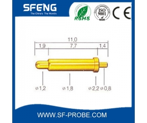 high quality brass gold plated pogo pin connector with best service