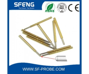 jiangsu suzhou brass gold plated test probe spring loaded pin with lowest price