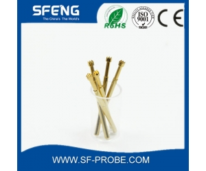 suzhou shengteng brass gold plated pogo pin with lowest price