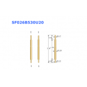 China 026 series high precision double head pogo pin factory