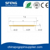 China Gold Plated Brass Double Head Pogo Pin Battery Connector factory