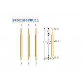 China Hot selling double head pogo pin SF021B570U11 factory