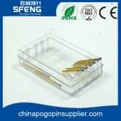 China brass gold plating test probe pogo pin for test fixture SF-P125 factory